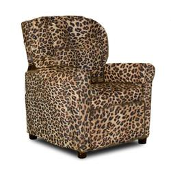 Dozydotes 10889 Micro Suede Contemporary Childrens Recliner - All Cheetah