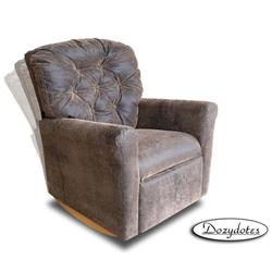 Dozydotes 10705 Leather-Like Classic Rocker Childrens Recliner - Brown Bomber