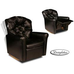 Dozydotes 10722 Leather- Like Classic Rocker Childrens Recliner - Black