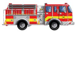 Melissa & Doug 0436 Giant Fire Truck Floor (24 pc)