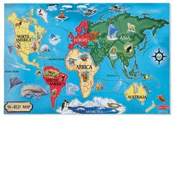 Melissa & Doug 0446 World Map Floor (33 pc)