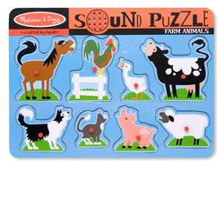 Melissa & Doug 0726 Farm Animals Sound Puzzle
