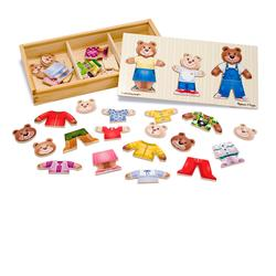 Melissa & Doug 3770 Wooden Bear Family Dress-Up