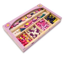 Melissa & Doug 4257 Happy Hearts Wooden Bead Set