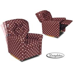 Dozydotes 10709 Classic Rocker Childrens Recliner - Pink Gingham