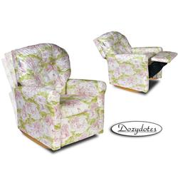 Dozydotes 10710 Classic Rocker Childrens Recliner - Pink Toile