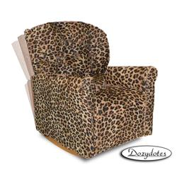 Dozydotes 10892 Micro Suede Classic Rocker Childrens Recliner - All Cheetah