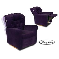 Dozydotes 10993 Micro Suede Classic Rocker Childrens Recliner - Glamorous Grape