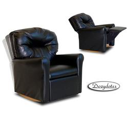 Dozydotes 10739 Leather Like Contemporary Childrens Rocker Recliner - Black