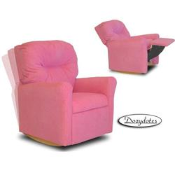 Dozydotes 10732 MicroSuede Contemporary Childrens Rocker Recliner - Hot Pink