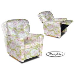 Dozydotes 10734 Contemporary Childrens Rocker Recliner - Pink Toile