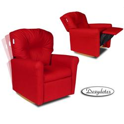 Dozydotes 10736 Contemporary Childrens Rocker Recliner - Rocket Red