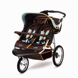 InSTEP 11-AR355 Safari 2 Double Jogging Stroller,Blue Chocolate