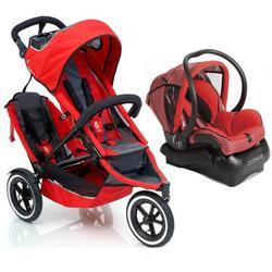 Phil & Teds SP511-Dtsm Sport Double Stroller Travel System-Red ...