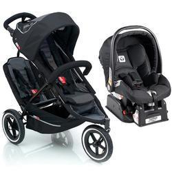Phil & Teds SP55-Dts Sport Double Stroller Travel System-Black ...