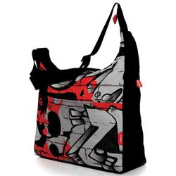 Phil and Teds DIDG11 Diddie Bag w/ Mini Diddie & Changing Pad - Grafitti/Red