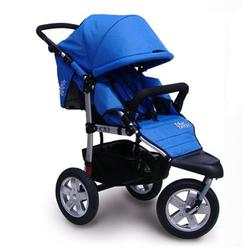 Tike Tech TT-2620 CityX3 Swivel Single Jogging Stroller - Pacific Blue