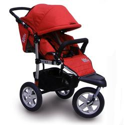 Tike Tech TT-2621 CityX3 Swivel Single Jogging Stroller - Alpine Red