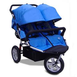 Tike Tech TT-3011 CityX3 Swivel Double Jogging Stroller - Pacific Blue