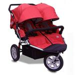 Tike Tech TT-3012 CityX3 Swivel Double Jogging Stroller - Alpine Red