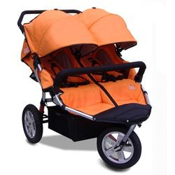 Tike Tech TT-3013 CityX3 Swivel Double Jogging Stroller - Autumn Orange