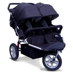 Tike Tech TT-3014 CityX3 Swivel Double Jogging Stroller - Classic Black