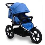 Tike Tech TT-8184 All Terrain X3 SPORT Single Jogging Stroller - Pacific Blue
