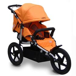 Tike Tech TT-8186 All Terrain X3 SPORT Single Jogging Stroller - Autumn Orange