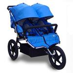 Tike Tech TT-4624 All Terrain X3 SPORT Double Jogging Stroller - Pacific Blue