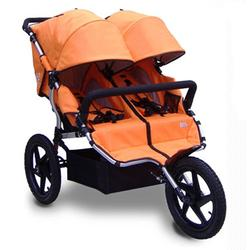 Tike Tech TT-4626 All Terrain X3 SPORT Double Jogging Stroller - Autumn Orange