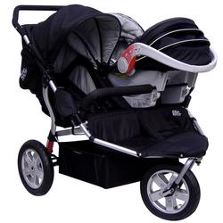Tike Tech TT-3014 CityX3 Swivel Double Jogging Stroller - Classic ...