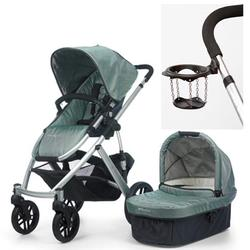 UPPAbaby 0056-CLNWD Vista Stroller, Carlin (Green) With a Cup Holder