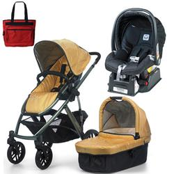 UPPAbaby VISTA Maya Travel System Yellow With Peg Perego Nero Car Seat And Free Fashionable