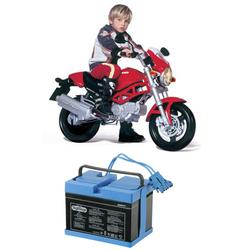Peg Perego IGMC0007W12V Ducati Monster Motorcycle With Additional 12 Volt Battery