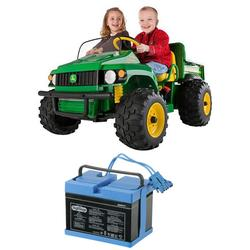 Peg Perego IGOD0055W12V John Deere Gator HPX With Additional 12 Volt Battery