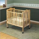 Orbelle 1122N Tina Three Level Portable Crib - Natural