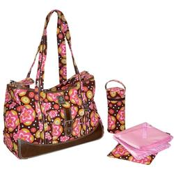 Kalencom 280 Weekender Diaper Bag - Flower Power Pink