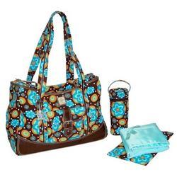 Kalencom 280 Weekender Diaper Bag - Flower Power Blue