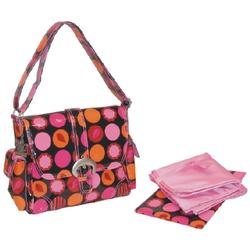 Kalencom 2959 Midi Coated Buckle Diaper Bag - Mod Dots Fire