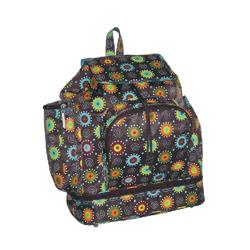 Kalencom 2900 Backpack Style Diaper Bag - Doodle Bugs - Chocolate
