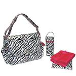 Kalencom 2960 A Step Above Laminated Buckle Diaper Bag - Zebra Black/White