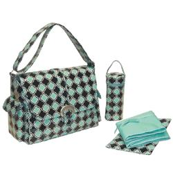 Kalencom 2960 Coated Buckle Bag - Geo Mirror Aqua