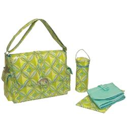 Kalencom 2960 Coated Buckle Bag - Tiled Garden Ocean