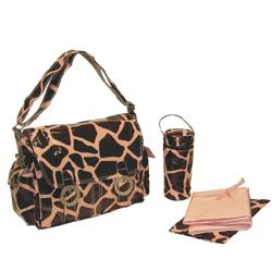 kalencom 2961 coated double buckle diaper bag giraffe chocolate pink free shipping. Black Bedroom Furniture Sets. Home Design Ideas