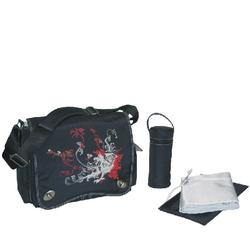 Kalencom 2962 Sam's Messenger Diaper Bag -Black Dragon Screened