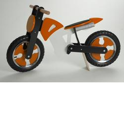 Kiddimoto SCR-OBW-916206 Scrambler Bike - Orange