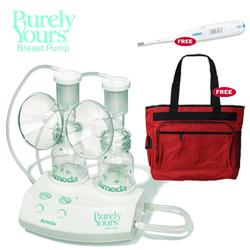 Ameda 17070KIT1,  Purely Yours Breastpump Combo #1 with Free Diaper Bag and Omron Thermometer