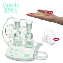 Ameda 17070KIT2, Purely Yours Breastpump Combo #2 with Free 2 ComfortGel Soothing Breast Pads and Areola Stimulator