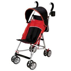 Kolcraft KU013-RH Tour Sport Stroller with Adjustable Canopy - Red/Black