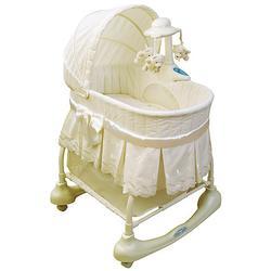 Kolcraft cuddle n care rocking bassinet with light vibes mobile - Kolcraft Kb026crp Cuddle N Care Rocking Bassinet With